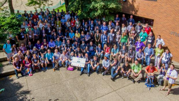 Group photo from beginning of 2016 camp